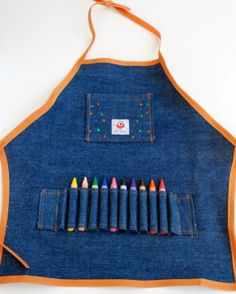 Personalized Child's Denim Craft Apron with by LoveInEveryThread, $22.00