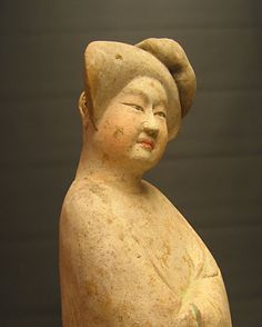 Tang Sculpture of a Fat Lady - DK.110  Origin: Shaanxi Province, Xi'an  Circa: 618 AD to 907 AD