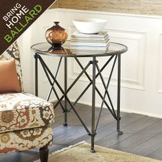 Olivia 30 inch Round Mirrored Side Table - for recliner area