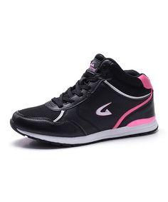 Another great find on #zulily! Black & Pink Hi-Top Sneaker - Women #zulilyfinds