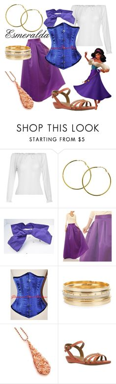 """Esmeralda (A Disney-Inspired Outfit)"" by one-little-spark ❤ liked on Polyvore featuring Melissa Odabash, disney and disneybound"