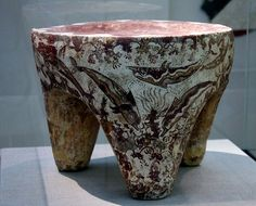 """Offering Table with dolphins"", Akrotiri, Mature Late Cycladic I Period (17th B.C.) -  Museum of Prehistoric Thera, Santorini"