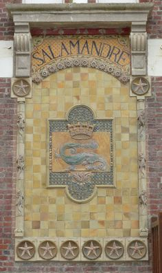 Ceramic tile designed by the Gréber Industry. It can be found on a House in Beauvais, were the manufactory is located.