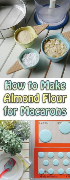 Save money on almond flour while you're perfecting your macaron baking. Lear… Save money on almond flour while you're perfecting your macaron baking. Learn how to make your own Almond Flour at home. Baking Tips, Baking Recipes, Cookie Recipes, Dessert Recipes, Baking Desserts, Make Almond Flour, Macaroon Cookies, French Macaroons, Macaroon Recipes