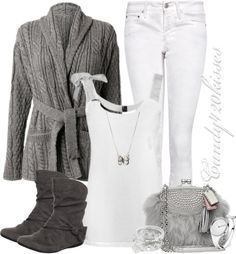 """""""grey and white"""" by candy420kisses ❤ liked on Polyvore"""