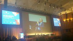 Giorgio Squinzi, presidente Mapei, parla nell'ambito del Convegno inaugurale Cersaie.  #MCaroundCersaie