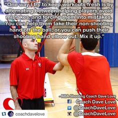 """@coachdavelove """"Coaches put new wrinkles in your drills to keep things fresh. Your athletes will thank you!"""""""