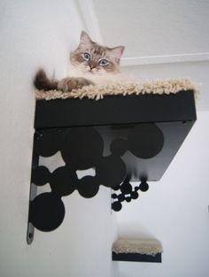 DIY IKEA cat tree.