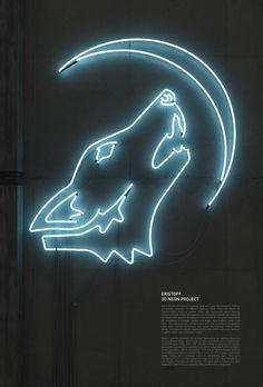 Neon wolf howling at a neon moon. Neon x. Neon Azul, Neon Rosa, Catty Noir, Neon Words, All Of The Lights, Neon Aesthetic, Aesthetic Bedroom, 3d Typography, Neon Glow