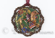 "- SOLD - Steampunk Fairy Pendant, Steampunk Pendant, Goth Fairy Pendant, Steampunk Girl Pendant, Steampunk Jewelry, Fairy Jewelry, Steampunk Art This beautiful, intricate fairy pendant is called ""Jewel"""