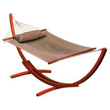 caribbean hammock with stand and pillow costco  big daddy deluxe sunbrella arc wood hammock   its a choice      rh   pinterest