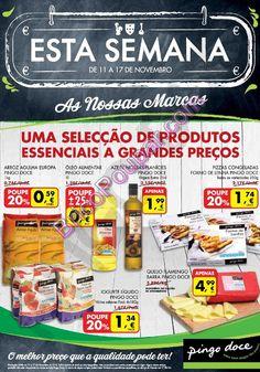 Antevisão Promoções Folheto Pingo Doce - de 11 a 17 de Novembro - Esta Semana - As Nossas Marcas