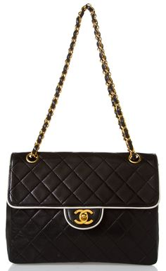 Chanel ~ Classic Large Quilted Black Flap Bag