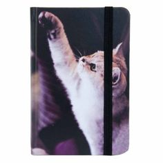 Notizbuch Katze 12 x 9 cm Clayre & Eef 6PA0426