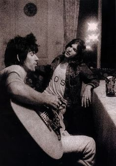 Gram Parsons and Keith Richard