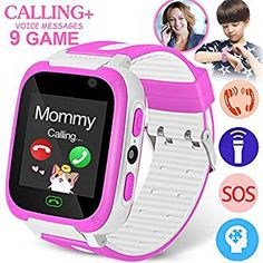 Kids Smart Watch Phone with 9 Game Camera SIM Call Anti-lost SOS Tracker Touch Girls Boys Unlock Sport Watch Wristwatch Fitness Tracker for Outdoor Run Summer Holiday Birthday Gift iOS Android Little Girl Toys, Cool Toys For Girls, Gifts For Girls, Girl Gifts, Little Girls, Baby Girl Toys, Baby Alive Dolls, Baby Dolls, Phone Watch For Kids
