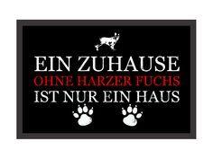 Retro Fußmatte EIN ZUHAUSE OHNE HARZER FUCHS Hund von Interluxe via dawanda.com