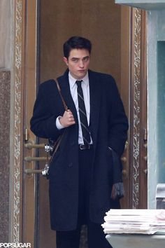 "Robert Pattinson on the set of ""Life"" love him all dressed up."