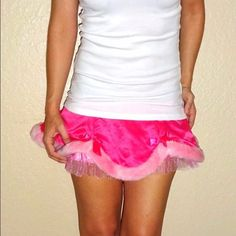SEXY LITTLE THINGS Sexy Victoria Secret Skirt SEXY LITTLE THINGS Rare Victoria Secret Satin Fur Pink Intimate Lingerie skirt Halloween costume skirt | Small | NWT  Color | Pink  Faux fur trimming | sequin sexy bows  Brand New with tags  Halloween | sexy | VS | date night | lingerie | costume | playful | Santa style | anniversary  Perfect holiday gift Victoria's Secret Skirts Mini