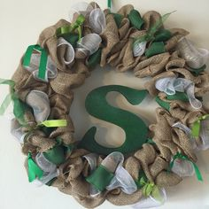 ST PATTYS WREATH TURNED STATE!! FOR SALE $25.00 If you like this and would like to purchase it or one like it, email me at Jaclynlee82@live.com