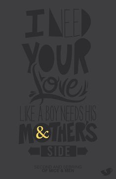 second and sebring. of mice & men. ♥ Lyrics that never fail to leave me in tears..my honest favorite song ever!!!