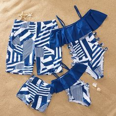 Check out this great stuff I just found at PatPat! - - Navy Geometric Pattern Matching Swimsuits Source by patpatshopping Baby Bikini, Cute Swimsuits, Women Swimsuits, Kids Outfits, Cute Outfits, Baby Dolls, Girls Bathing Suits, Kids Swimwear, Bikini Swimwear