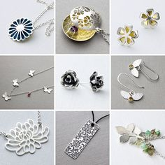 A collection of brand new handmade jewellery designs - a floral delight!  http://www.shop.simonewalsh.com/collections/new-jewellery