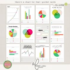 THERE'S A CHART FOR THAT POCKET CARDS | by Amber LaBau   **Sample layouts use products from other designers not incuded in this pack.**