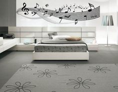 Music Notes Clef Living Room Inspirational by BeaCreativeDesigner