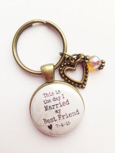 WEDDING HUSBAND or WIFE Personalized Charm by AnnmarieJewelryTree