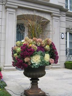 garden Planters Easy - Stunning Fall Planters For Easy Garden Fall Decorations 01 Fall Planters, Outdoor Planters, Garden Planters, Outdoor Gardens, Outdoor Decor, Autumn Garden, Easy Garden, Container Plants, Container Gardening
