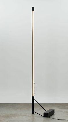 Gino Sarfatti; #1063 Enameled Steel Floor Lamp for Arteluce, 1954.