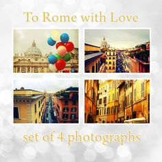 45% off To Rome with Love Set of 4 Rome Photography Prints 8x10 (20x25cm) Italy Europe Winter Home Decor Gift unique art. $49,00, via Etsy.