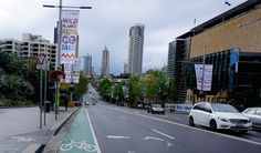 Last week we visited Sydney, Australia for the first time. I was shocked and saddened to see the awful cycling conditions that cyclists endure in downtown Sydney. Faded old paint on the road does NOT protect cyclists from speeding cars.