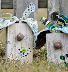 Mindy - page not found :( Girls Time, Wooden Blocks, Spring Crafts, Easter Crafts, Ale, Bunny, Crafty, Bird, Christmas Ornaments