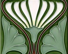 Art Nouveau decorative Ceramic