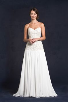 Why Hello #Georgia!  We love how regal #Georgia is with her bodice fully embroidered and beaded.  To see more of this stunner, visit our site, www.lissimon.com