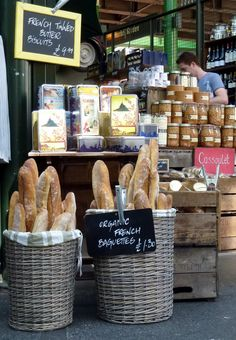 favor or treats table decor - Homely Creativity: London's Borough Market French Baguettes