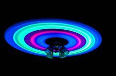 Glow sticks + ceiling fan = viola!