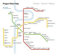Схема метро Праги Prague metro map