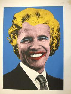 Mr Brainwash ~ Obama Marilyn