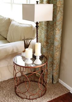 World Market Vance Metal Table: LOVE This Table!