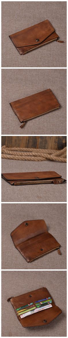 New Design Wallet Genuine Leather Wallet Leather Purse Card Holder iphone case