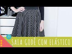 Saia com babado (Saia Trompete) by Customização & Cia - YouTube