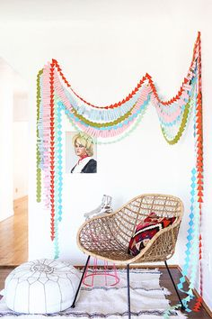 party garland DIY | designlovefest