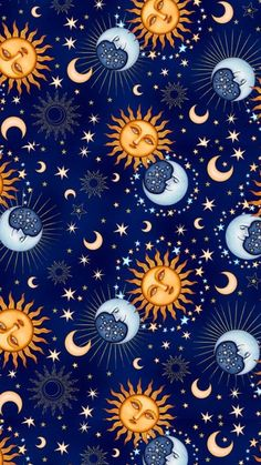 Sun, moon and stars pattern screen wallpaper, iphone wallpaper moon, star wallpaper, Iphone Wallpaper Moon, Free Phone Wallpaper, Aesthetic Iphone Wallpaper, Screen Wallpaper, Cool Wallpaper, Aesthetic Wallpapers, Star Wallpaper, Artistic Wallpaper, Wiccan Wallpaper