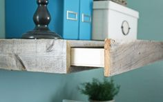 How to make a floating shelf with hidden drawer