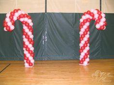 Candy Canes - Christmas - Candy Land Theme Balloon Decor