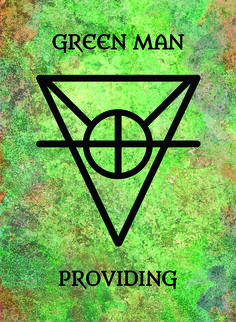 The Green Man (Providing) image for the Transcendence Oracle™ card deck by Aethyrius.