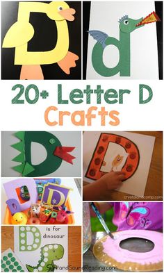 Letter D Crafts for preschool or kindergarten – Fun, easy and educational! Letter D Crafts Letter D Crafts for preschool or kindergarten – Fun, easy and educational! Students will have fun learning and making these fun crafts! Easy Preschool Crafts, Abc Crafts, Preschool Art Projects, Letter C Activities, Preschool Letters, Learning Letters, Alphabet Letter Crafts, Kids Alphabet, Spanish Alphabet